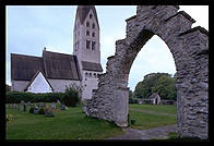 Church in Tingstade. Northern Gotland.  Sweden