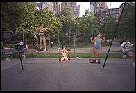wing.  Central Park.  Manhattan 1995.