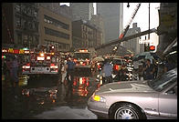 Fire on 8th Avenue at 56th.  Manhattan 1995.
