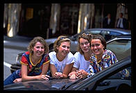 The four Swedish girls.  Grand Central Station.  Manhattan 1995.