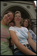 Four Swedish girls.  Jefferson Market.  Greenwich Village, Manhattan 1995.