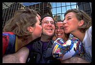The four Swedish girls (plus me).  Manhattan 1995.