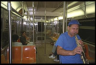 Subway sax.  Manhattan 1995.