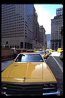 Line of Taxis.  Grand Central Station.  Manhattan 1995.