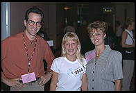 Talent contestant and her parents.  IMTA Show 1995 Manhattan