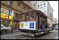 Cable car.  San Francisco.