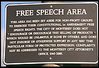 Free Speech Area.  Monterey, California.