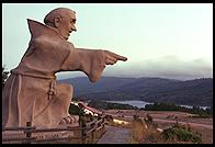 Interstate 280 overlook, just south of San Francisco.  With statue of Father Junipero Serra.