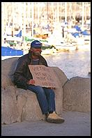Hungry Vietnam Veteran.  Monterey, California.
