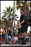 Chainsaw Juggler; Venice Beach, California.