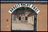 Arbeit Macht Frei arch.  Small Fortress.  Terezin
