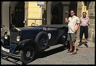 Antique car. Prague