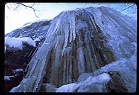 Frozen waterfall.  Melrose, Massachusetts