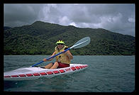 Petra in a kayak (of sorts).   Queensland, Australia.