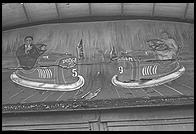 Sign above the bumper cars building at Glen Echo (Maryland) amusement park, now run by the National Park Service