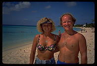Dave and Rhonda, Canadians vacationing in the Cayman Islands