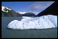An iceberg in Portage Lake, just south of Anchorage