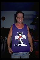 Tony with an Alathka T-shirt.  Fairbanks.