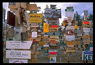The famous Watson Lake sign forest on the Alaska Highway.