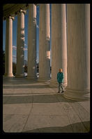 Rebecca at the Jefferson Memorial, Washington, D.C.