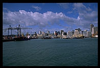 The Auckland, New Zealand harbor