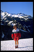 Dorothea on the glacier.  West coast of the South Island of New Zealand.
