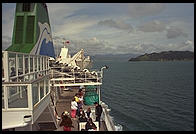 On the ferry from the North Island to the South Island (of New Zealand)