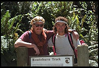 Klaus and Stefan set out over the Routeburn Track.  South Island, New Zealand.