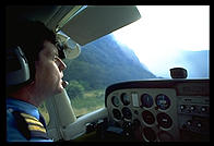 Heading out for a scenic flight over Milford Sound, South Island, New Zealand.