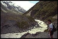 River in Mt. Cook National Park, South Island, New Zealand