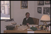 Harry Gittes, movie producer, in his office at Sony Pictures (then Columbia).