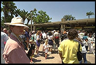 Susan in line to get into the San Diego Zoo on Memorial Day.