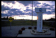 Milepost 1422, the end of the Alaska Highway.  Delta Junction, Alaska.