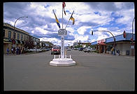 Mile 0 on the Alaska Highway.  Dawson Creek, British Columbia.