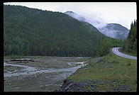 Typical scenery in the early portion of the Alaska Highway, not too far out from Dawson Creek, British Columbia.