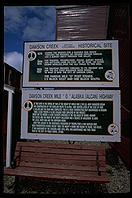 Sign at the entrance to the Alaska Highway.  Dawson Creek, British Columbia.