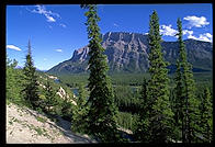 Montain biking in Banff National Park, Alberta, Canada