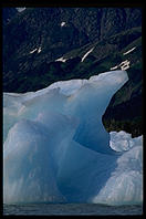 Iceberg in Portage Lake, just south of Anchorage, Alaska.