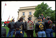 Vietnam Veterans listening to the Governor of North Dakota speak