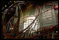 The rollercoast inside the West Edmonton mall (Alberta, Canada), the world's largest in 1993