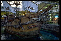 A replica of Columbus's ship the Santa Maria.   Inside the West Edmonton mall (Alberta, Canada)