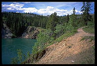 A trail along the banks of the Yukon River, Whitehorse, Yukon.