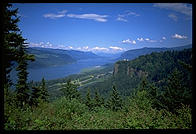 The Columbia River Gorge, just east of Portland, Oregon.