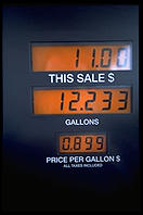 A gas pump in Missouri, notable for prices about 30 percent lower than in any other state.