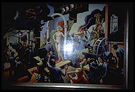 Thomas Hart Benton's view of Hollywood, commissioned by LIFE magazine which subsequently refused to run it because of the half-naked woman in the center.