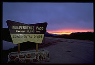 Independence Pass (elevation 12,095), east of Aspen, Colorado