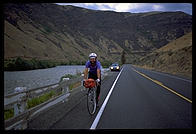 Joel riding his bike through the Yakima River Valley (Washington State).