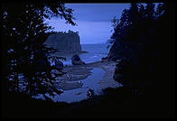 Ruby Beach after sunset.  Olympic National Park (Washington State).