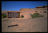 Sign on the Slickrock Trail.  Moab, Utah.