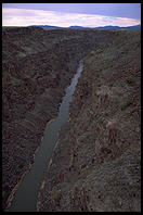 Canyon of the Rio Grande, near Taos, New Mexico